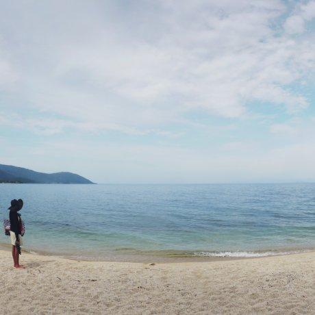 Пляж Омимайко на озере Бива