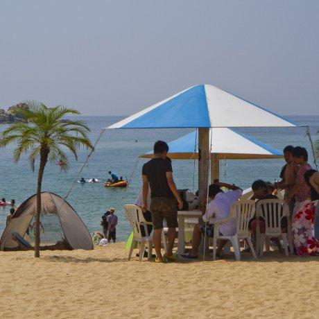 Остудитесь на пляже Кэя